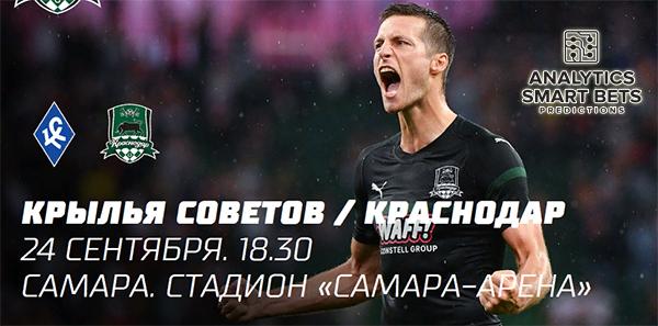 Прогноз на матч Крылья Советов - Краснодар